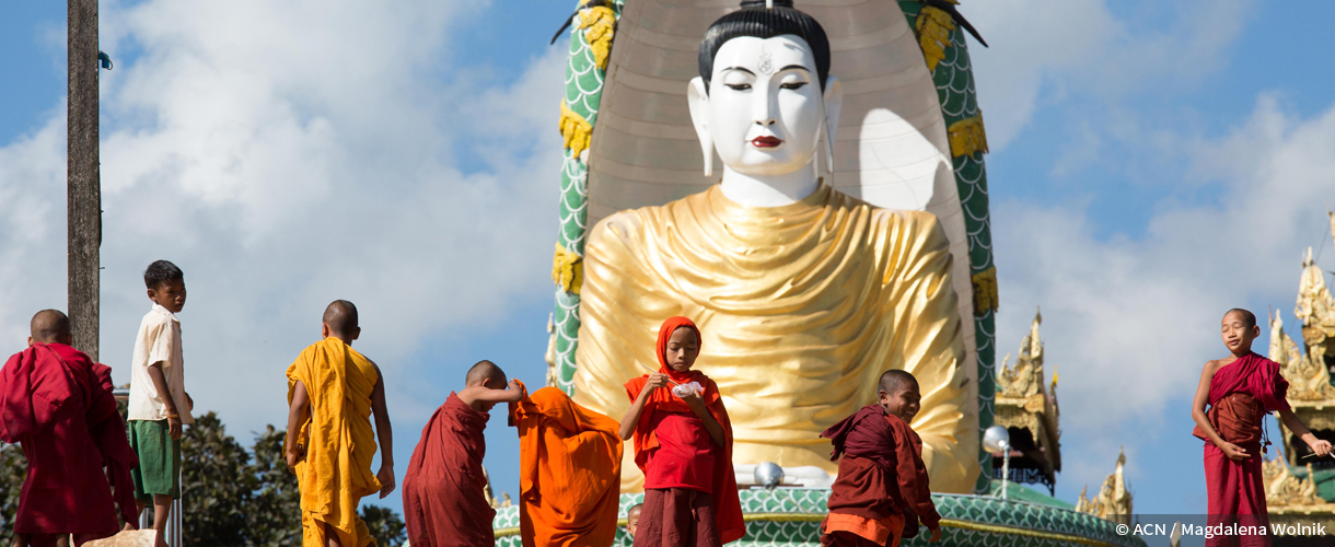 Usually a peaceful religion – but in Burma Buddhists have attacked other faiths.
